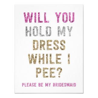 Posse do brilho meu vestido quando eu fizer xixi convite 10.79 x 13.97cm