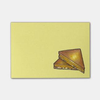 Post-it brindados grelhados de Foodie do sanduíche Sticky Note