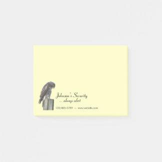 Post-it (manutenção programada) - falcão e bloquinhos de notas
