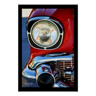 Póster 13x19-em belas artes clássicas do couro e do carro
