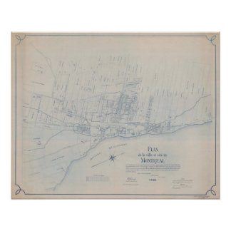 Poster 1801 Plano of Montreal