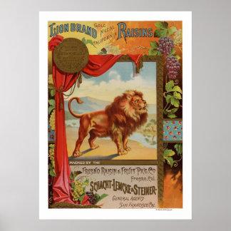 Poster 1890 das passas de Califórnia