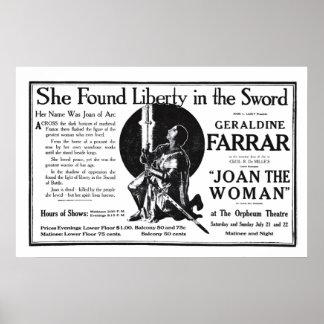 Poster 1917 do anúncio do filme do vintage de Gera