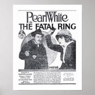 Poster 1917 do anúncio do filme do vintage de Pear