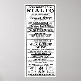 Poster 1918 gordo do anúncio do filme do vintage d