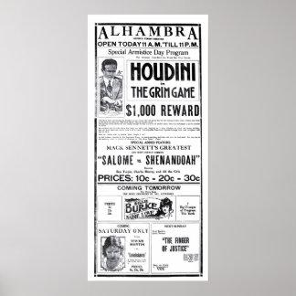 Poster 1919 do anúncio do filme do vintage de Houd