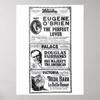 Poster 1919 do anúncio do filme do vintage de Thed