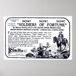 Poster 1919 do anúncio do filme do vintage de Wall