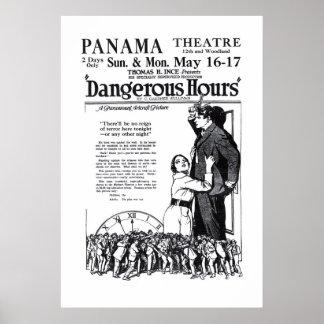 Poster 1920 do anúncio do filme do vintage das ho