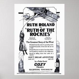 Poster 1920 do anúncio do filme do vintage de Ruth