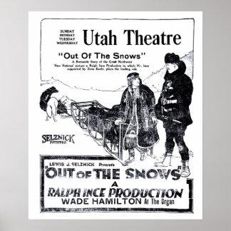 Poster 1920 do anúncio do filme do vintage de Zena
