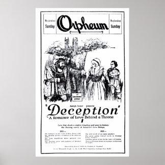 """Poster 1921 do anúncio do filme do vintage da """"dec"""