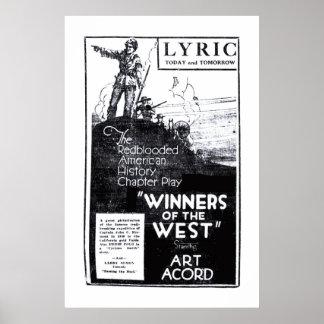 Poster 1921 do anúncio do filme do vintage de Acor