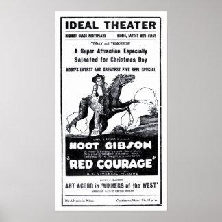 Poster 1921 do anúncio do filme do vintage de Gibs