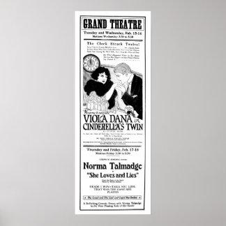 Poster 1921 do anúncio do filme do vintage de Norm