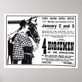 Poster 1921 do anúncio do filme do vintage de Rudo