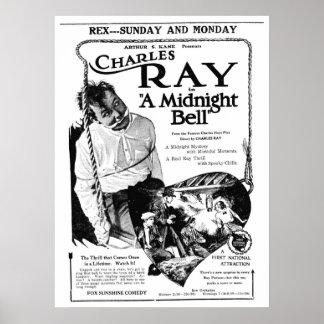 Poster 1921 do anúncio do filme do vintage do raio