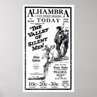 Poster 1922 do anúncio do filme do vintage de Alma