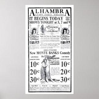 Poster 1922 do anúncio do filme do vintage de Bett