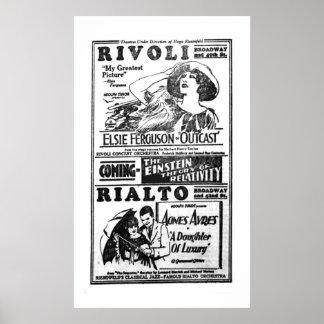 Poster 1922 do anúncio do filme do vintage de Elsi