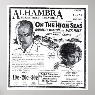 Poster 1922 do anúncio do filme do vintage de Jack