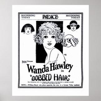 Poster 1922 do anúncio do filme do vintage de Wand