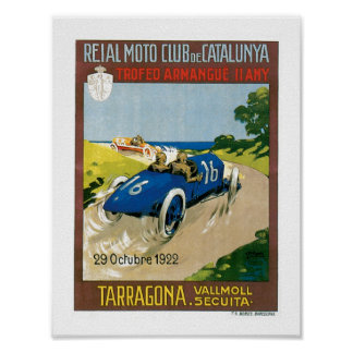 Poster 1922 do impressão da arte do vintage dos ca