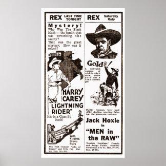 Poster 1924 do anúncio do filme do vintage de Harr