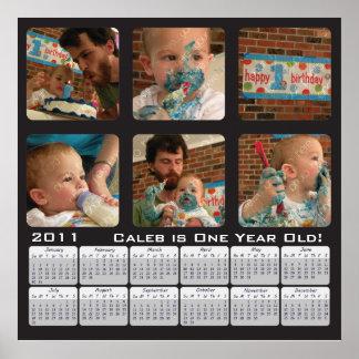 Poster 2011 do calendário da foto