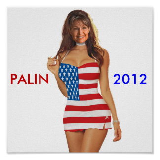 Poster 2012 engraçado de Palin (camisas 2012 da ca