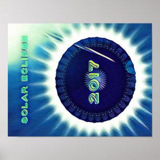 Poster 2017 legal da lembrança do eclipse solar de