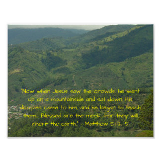 Poster 5:1 de Matthew do verso da bíblia - 2,5