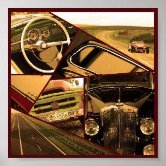 Poster 6x6 do carro vintage
