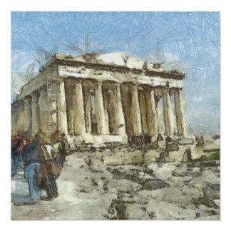 Póster A acrópole muito visitada