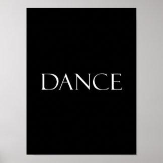 Poster A dança cita citações inspiradas da dança