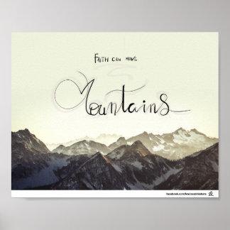 Poster A fé pode mover montanhas