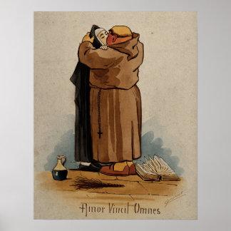 Poster A monge que beija a freira, amor conquista tudo,
