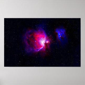 Póster A nebulosa de Orion
