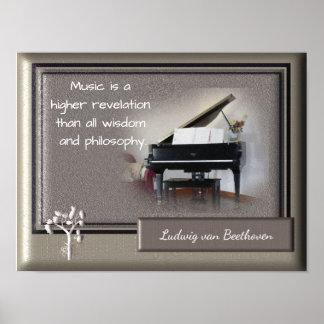 Poster A revelação dos mais alto da música _Beethoven