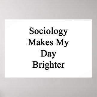 Poster A Sociologia faz meu dia mais brilhante