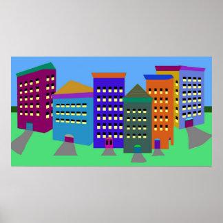 Poster abstrato da arte da cidade pôster