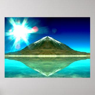 Poster abstrato da arte da montanha