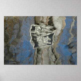 Poster abstrato da arte da poça do expressionista pôster