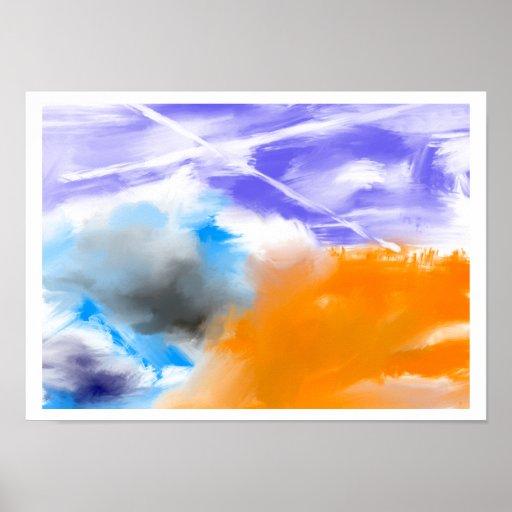 Poster abstrato de Skyz da nuvem