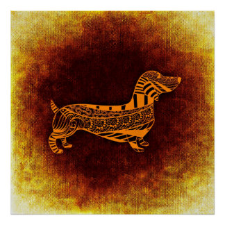 Poster abstrato do cão