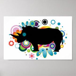 Poster abstrato do rinoceronte