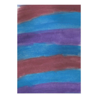 Poster abstrato listrado da arte da aguarela pôster