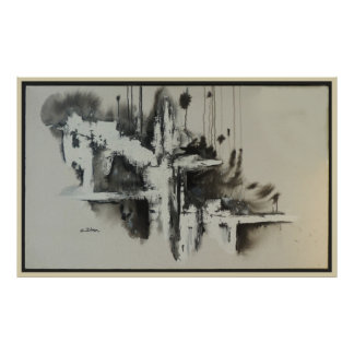 Poster Abstrato urbano dos sonhos