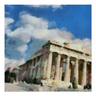 Póster Acrópole maravilhosa em Atenas