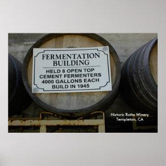 Poster: Adega histórica de Rotta em Templeton, CA